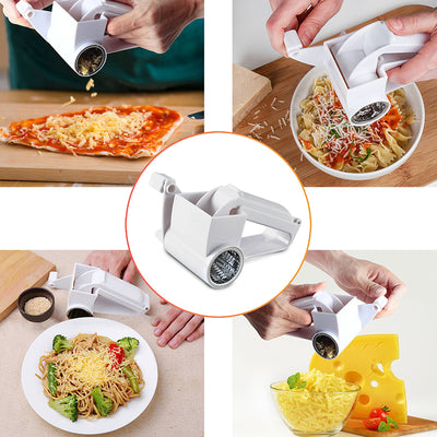 Hand-Cranked Cheese Grater Rotary Cheese Graters Ginger Chocolate Cutter with Stainless Steel Drum