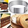 Adjustable Round Bread Cake Cutter Slicer Stainless Steel Cake Cutter Mousse Ring Mould Baking Tool Fondant Mold Cake Decoration