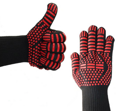 Oven Mitt Baking Glove Extreme Heat Resistant Multi-Purpose Grilling Cook Gloves Kitchen Barbecue Glove BBQ Gloves