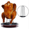 1Set Carbon Steel Chicken Roaster Rack With Tray Non-Stick BBQ Grilling Cooking Pans Barbecue Tools