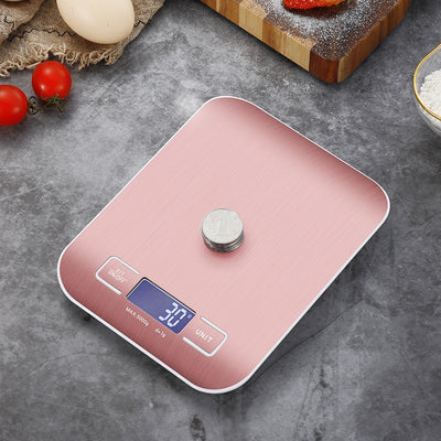 Electronic Food Scales Stainless Steel Weight Balance Measuring Tools g/kg/lb/oz/ml Professional Household Digital Kitchen Scale