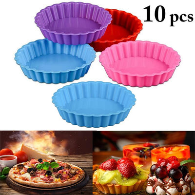 Silicone Cake Molds Round Silicone Bakeware Pizza Pan Non-Stick Multi-Purpose Baking Tray Cake Mold Bread Mold For Kitchen