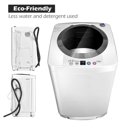 Free Standing Compact Automatic Washing Machine 3.5 KG Spin&Dry