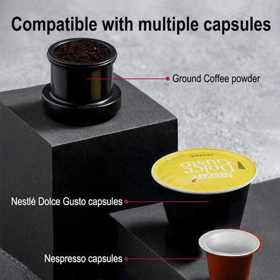 HiBREW Portable Car Coffee Machine, USB pod  Coffee machine, Capsule  Espresso Maker 12V, expresso  machine nespresso powder