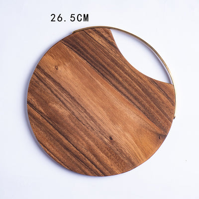 Acacia Chopping Blocks Kitchen Wood Food Plate Wooden Pizza Sushi Bread Whole Tray Cutting Board Durable Thicken Anti-slip