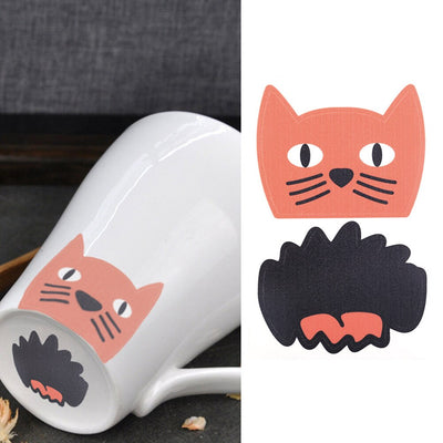 5Pcs Funny Pig Nose Cat Best Friend Love Bag Cup Sticker Fridge Decal Mug Decor stickers bedroom decor	wall sticker wall decor