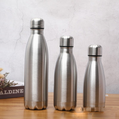 Stainless steel warm water Single-layer Coke bottle Single-layer stainless steel sports bottle Rugged water cup A11225