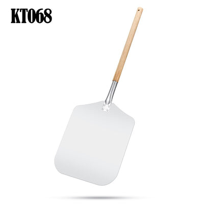 Aluminum Pizza Shovel Peel With Long Wooden Handle Pastry Tools Accessories Pizza Paddle Spatula Cake Baking Cutter