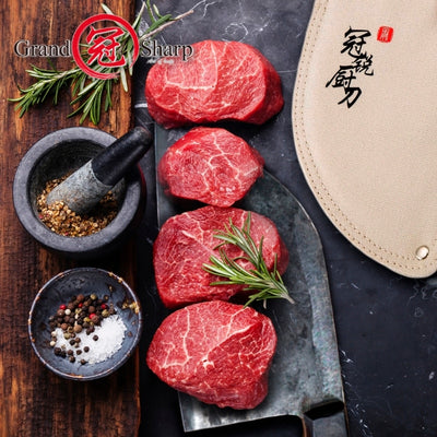Handmade Forged Chef Knife Clad Steel Forged Chinese Cleaver Professional Kitchen Knives Meat Vegetables Slicing Chopping Tools