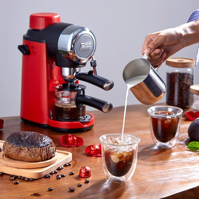 edoolffe  Espresso Machine Built-In Milk Frother 5Bar Pump System Coffee Makers 800W Coffee Machines  Milk frother 220-240v 50HZ