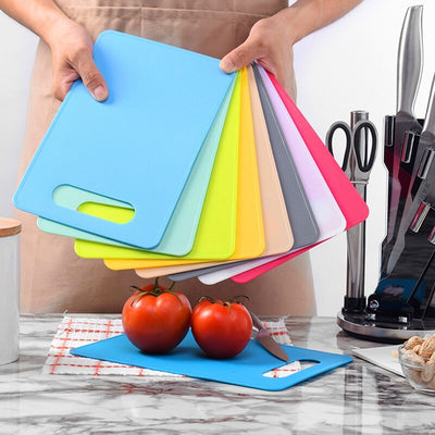 Kitchen Plastic Vegetable Fruits Meats Bread Cutting board Outdoor Camping Food Cutting Board Non slip kitchen Chopping Blocks|Chopping Blocks