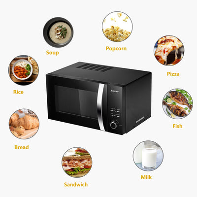 800W Digital Microwave with 5 Power Levels
