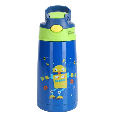 New 400Ml Baby mug stainless steel student duckbill child insulation cup with straw cute cartoon straw Vacuum Flasks & Thermoses