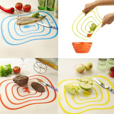 Non slip Catering Chopping Boards Coded Food Flexible Transparent Cutting Board Choose Colours Chopping Blocks|Chopping Blocks