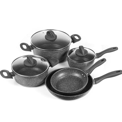 Nonstick Coating Fry Pan Cookware Set Dishwasher Safe PFOA Free 8 and 10-Inch  With Aluminum Handle Kitchen Pots Frying Pan Sets