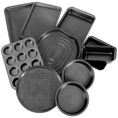 10 PCS Nonstick Bakeware Set Premium Carbon Steel Black