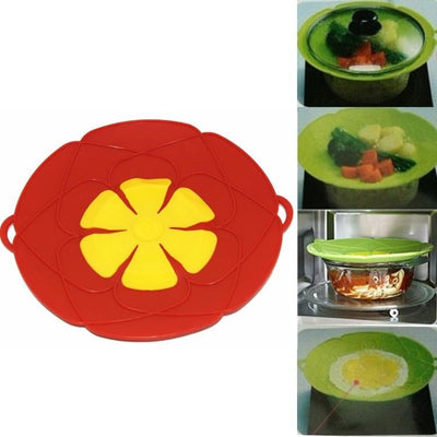 Silicone lid Spill Stopper Cover For Pot Pan Kitchen Accessories Cooking Tools Flower Cookware