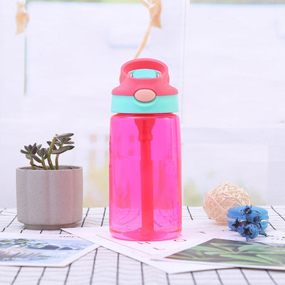 Sport  480ML Cartoon Eco-friendly Kid Water Bottle With Straw Healthy Water Milk Cup for Baby Inverted Leakproof Child Bottle