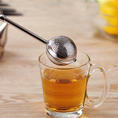 Stainless Steel Tea Infuser Ball Shape Steeper Tea Strainer Loose Leaf Herb Spice Filter Reusable Tea Bag Tea Tools 16cm*5cm