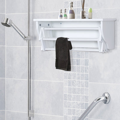 Wall Mount Wooden Towel Laundry Airer