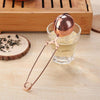practical Rose Gold Sphere Mesh Tea Strainer Stainless Steel Ball Tea Infuser Coffee Herb Spice Filter Diffuser Handle teaware
