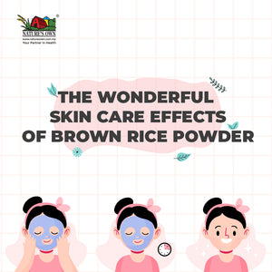 skin care effects of brown rice powder