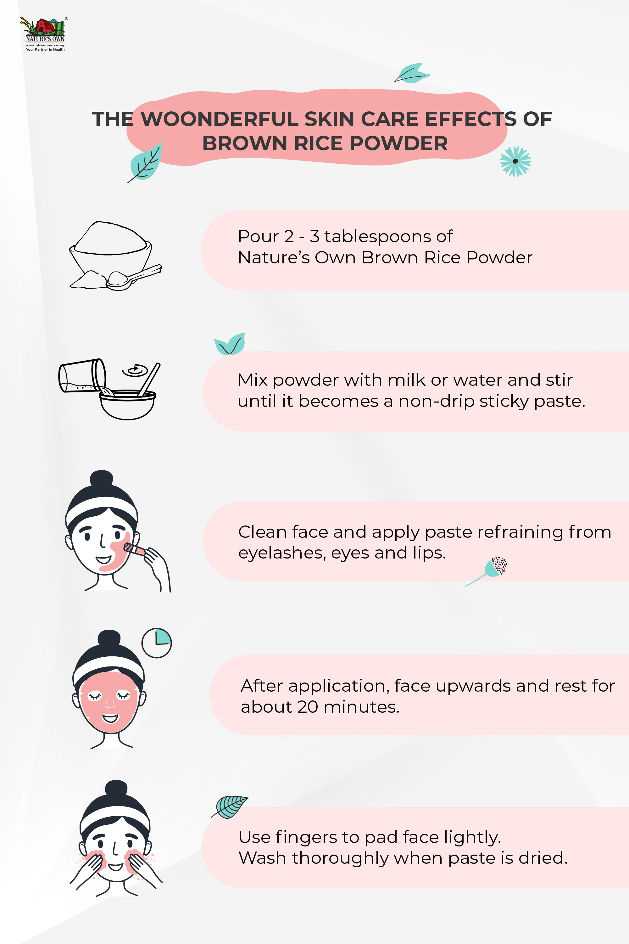 Brown Rice Powder beauty care procedure