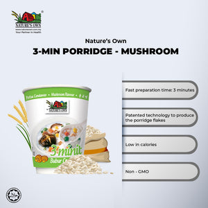 Nature's Own Instant Porridge-Mushroom Flavour - Bubur Cendawan - 香菇速食粥