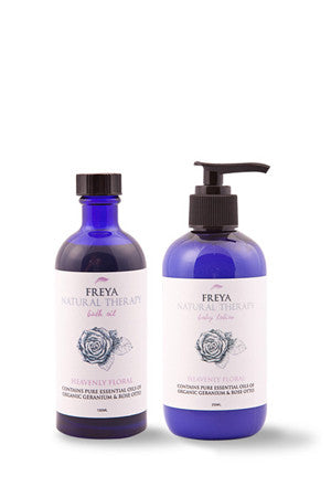 Heavenly Floral Bath oil and Body Lotion Gift Set