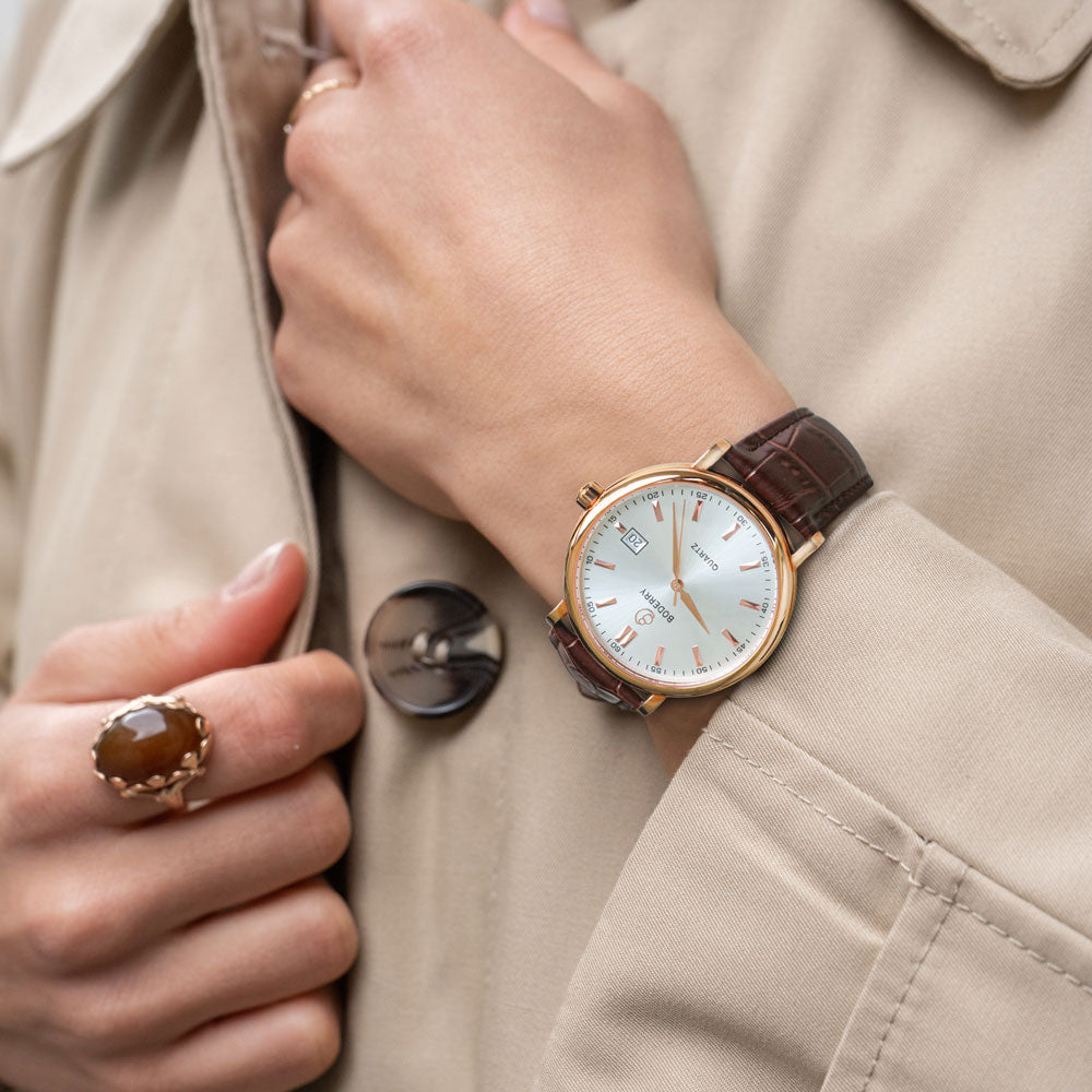 Classic | Brown Strap - 3 Dial