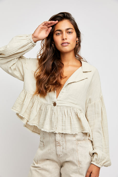Lyra Tiered Bed Jacket-Dust Storm(FP)