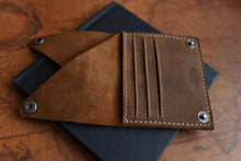 Load image into Gallery viewer, Leather Wing Fold Card Case