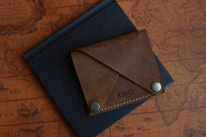 Leather Wing Fold Card Case