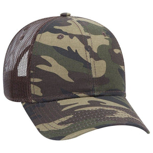 6 Panel Low Profile Camouflage Hat