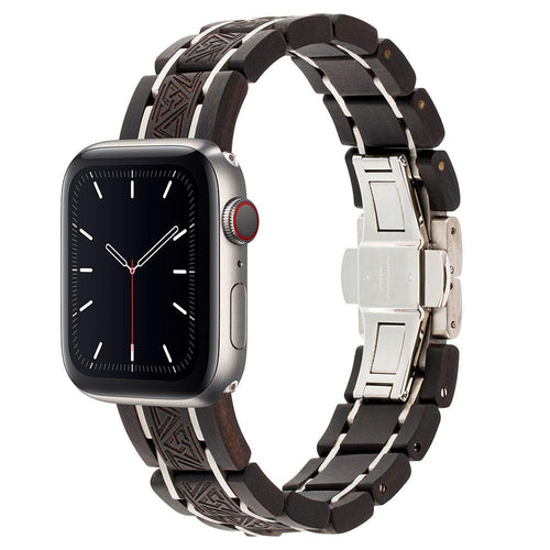 2020 Apple Watch Wooden Band - Ebony Wood