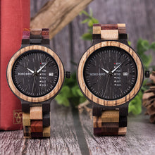 Load image into Gallery viewer, Bobo Bird- Antique Mens Wooden Watch