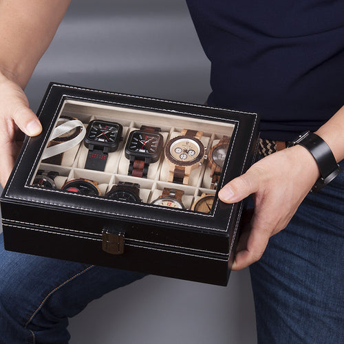 Leather Watch Display Case