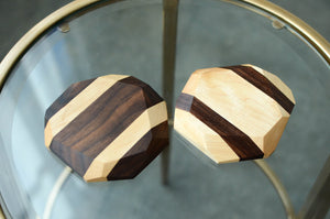 Hardwood Geometric Coasters (Set of 4)