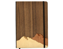 Load image into Gallery viewer, Mountain Wood Paneled Journal