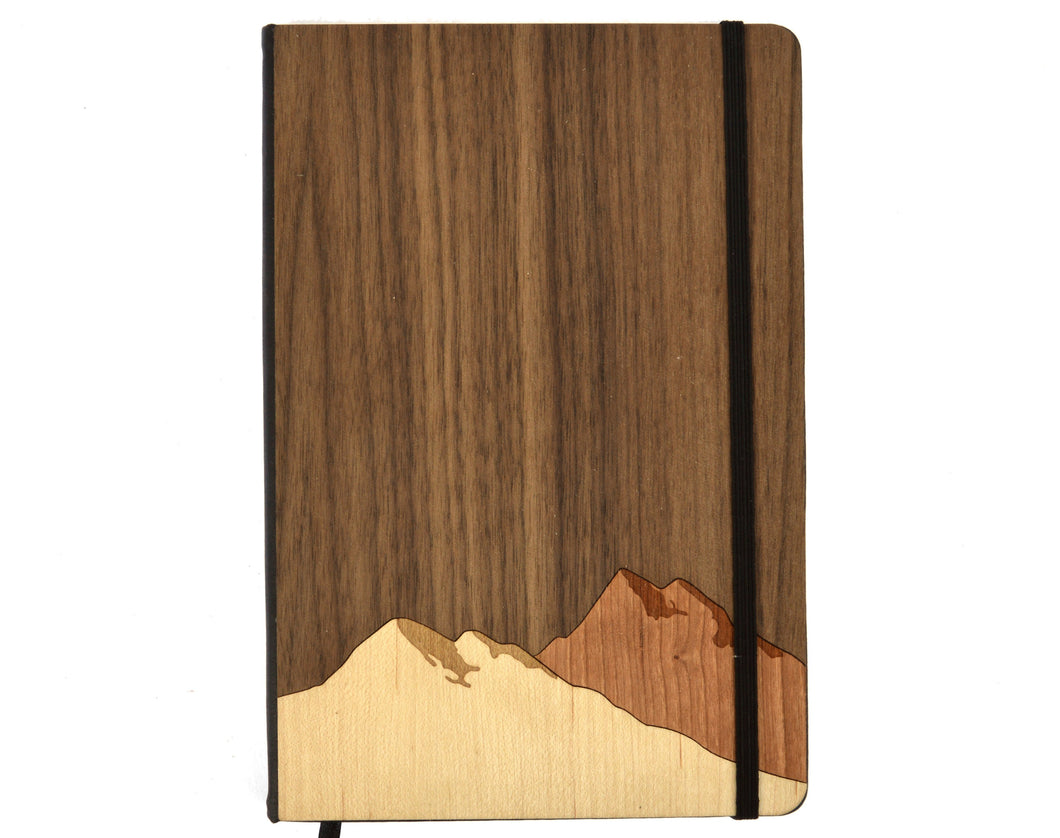 Mountain Wood Paneled Journal