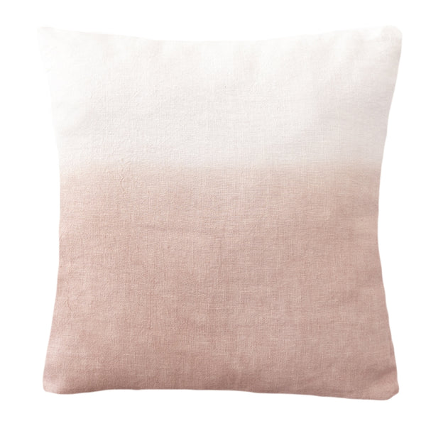 20x20 Hand Dyed Ombre Pillow in Blush