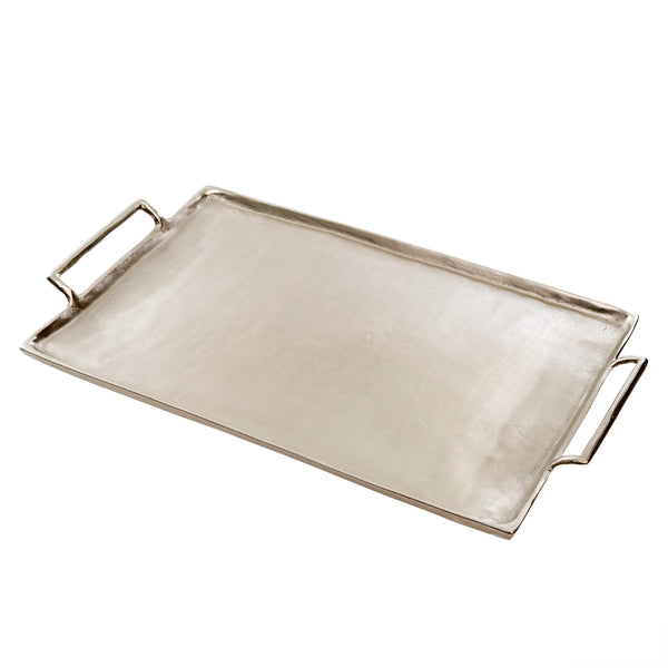 Metal Coffee Table Trays | Silver