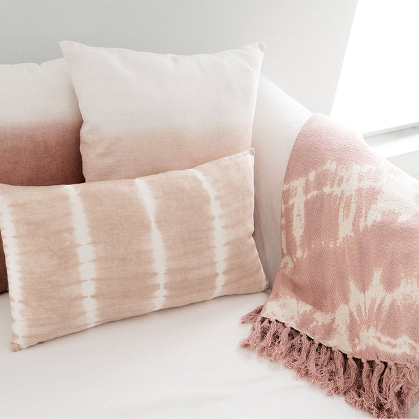 20x20 Hand Dyed Ombre Pillow in Terracotta