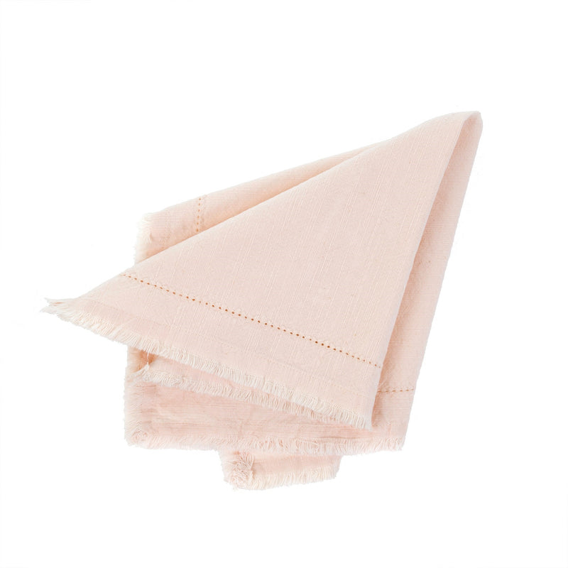 Frayed Edge Napkin - Light Pink