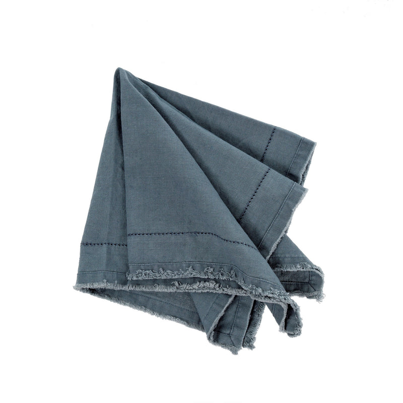 Frayed Edge Napkin - Blue Grey