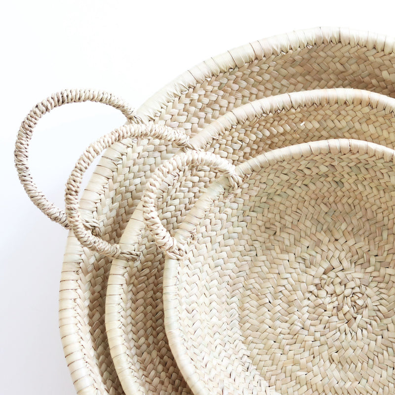 Moroccan Straw Woven Plates