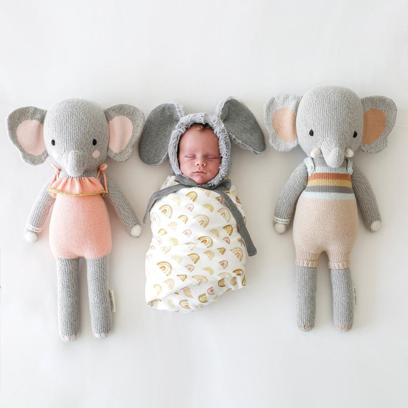 Evan the Elephant by Cuddle & Kind