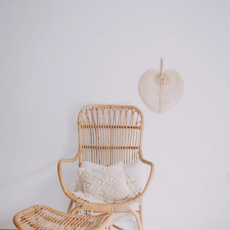 Handwoven Paradisio Palm Fan in Blonde