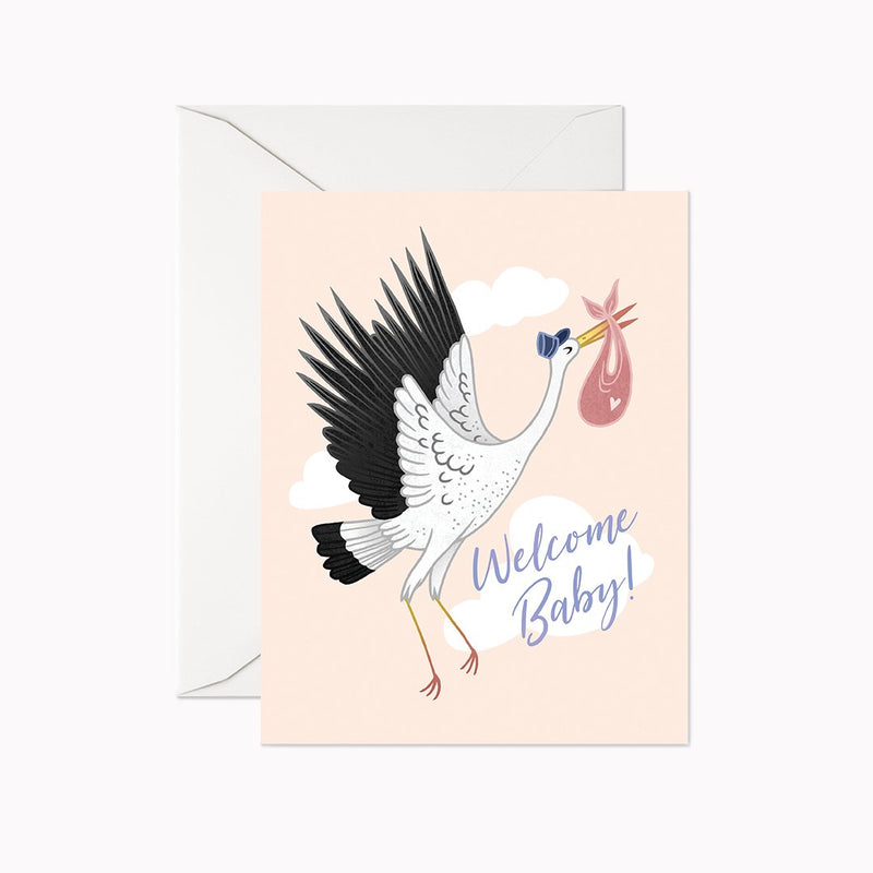 Welcome Baby Stork Card