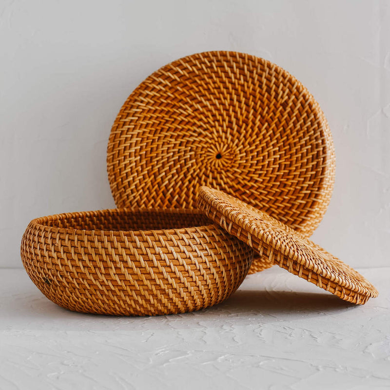 Ata Rattan Canisters